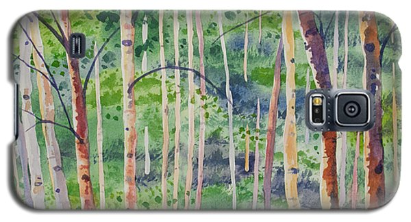 Watercolor - Magical Aspen Forest After A Spring Rain Galaxy S5 Case