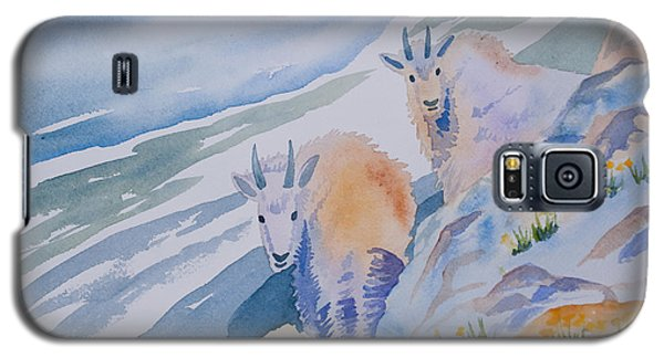 Watercolor - Mountain Goats On Quandary Galaxy S5 Case