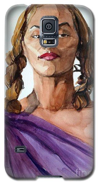 Portrait In Watercolor Of A Brooklyn Queen Galaxy S5 Case