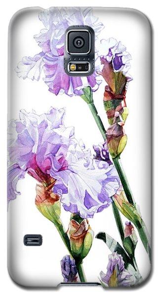 Watercolor Of A Tall Bearded Iris I Call Lilac Iris Wendi Galaxy S5 Case