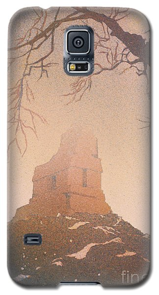 Galaxy S5 Case featuring the painting Watercolor Painting Of Mayan Temple- Tikal, Guatemala by Ryan Fox