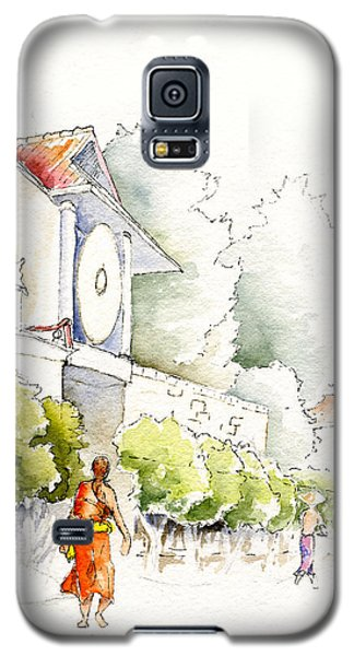 Watercolor Painting Of Monk Galaxy S5 Case