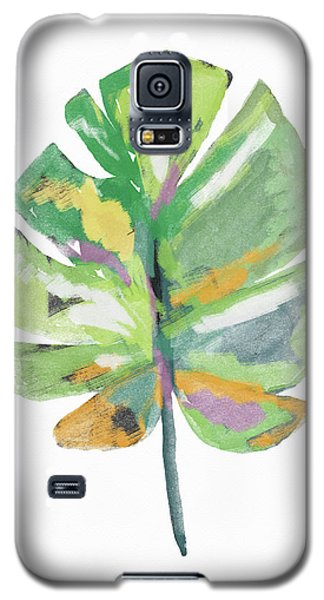 Galaxy S5 Case featuring the mixed media Watercolor Palm Leaf- Art By Linda Woods by Linda Woods
