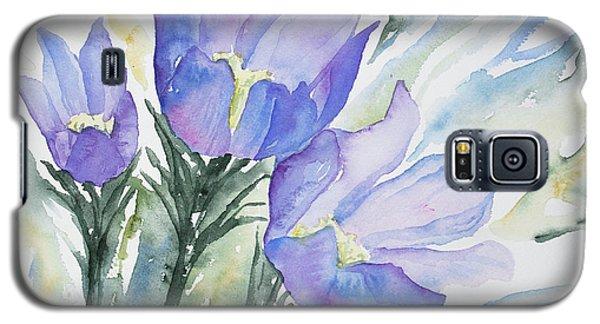 Watercolor - Pasque Flowers Galaxy S5 Case