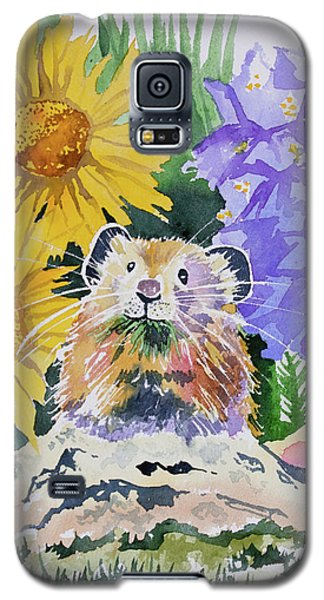 Watercolor - Pika With Wildflowers Galaxy S5 Case