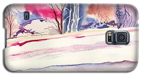 Galaxy S5 Case featuring the painting Watercolor River by Darren Cannell