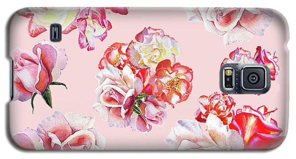 Galaxy S5 Case featuring the painting Watercolor Roses Pink Dance by Irina Sztukowski