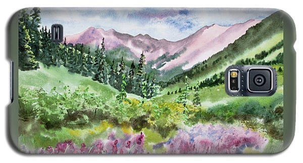 Watercolor - San Juans Mountain Landscape Galaxy S5 Case