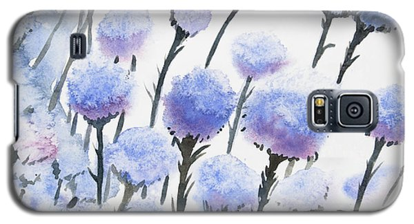 Watercolor - Snow-covered Seed Pods Galaxy S5 Case
