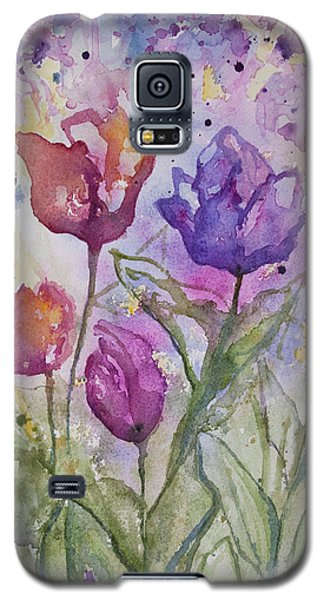Watercolor - Spring Flowers Galaxy S5 Case