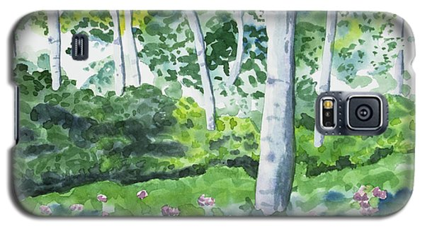 Watercolor - Spring Forest And Flowers Galaxy S5 Case