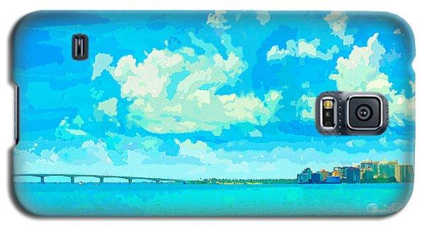 Watercolor Spring On Sarasota Bay Galaxy S5 Case
