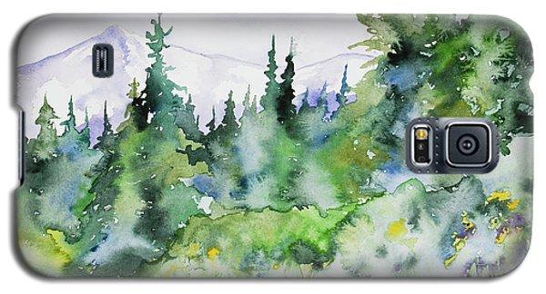 Watercolor - Summer In The Rockies Galaxy S5 Case