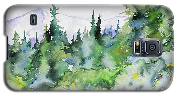 Watercolor - Summer In The Rockies Galaxy S5 Case