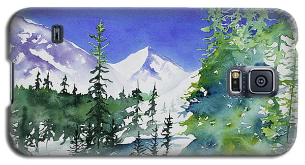 Watercolor - Sunny Winter Day In The Mountains Galaxy S5 Case