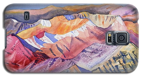 Watercolor - View From Atop Castle Peak Galaxy S5 Case