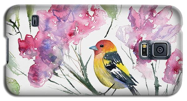 Watercolor - Western Tanager In A Flowering Tree Galaxy S5 Case