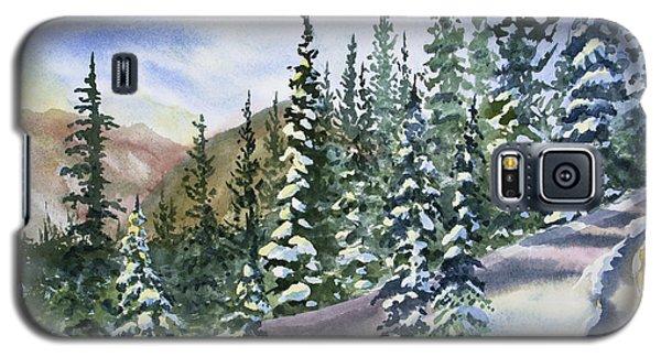 Watercolor - Winter Snow-covered Landscape Galaxy S5 Case