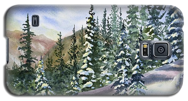 Watercolor - Winter Snow-covered Landscape Galaxy S5 Case