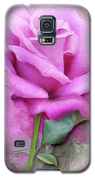 Watercolour Pastel Lilac Rose Galaxy S5 Case