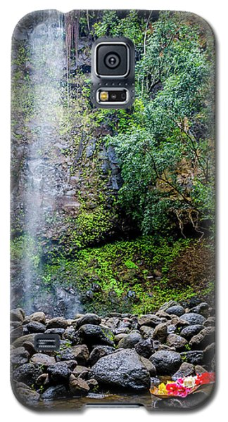 Waterfall And Flowers Galaxy S5 Case