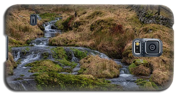 Galaxy S5 Case featuring the photograph Waterfall At Glendevon In Scotland by Jeremy Lavender Photography