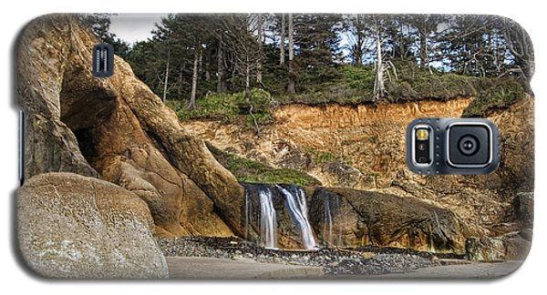 Waterfall At Hug Point State Park Oregon Galaxy S5 Case