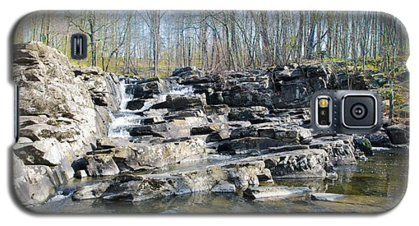 Galaxy S5 Case featuring the photograph Waterfall At Wickecheoke Creek by Bill Cannon