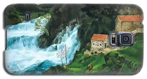 Waterfall In Krka Galaxy S5 Case