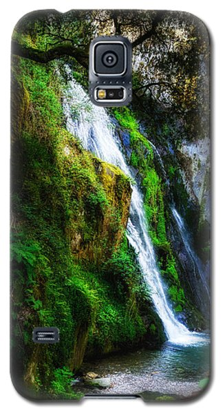 Waterfall In Spring Galaxy S5 Case by Marion McCristall