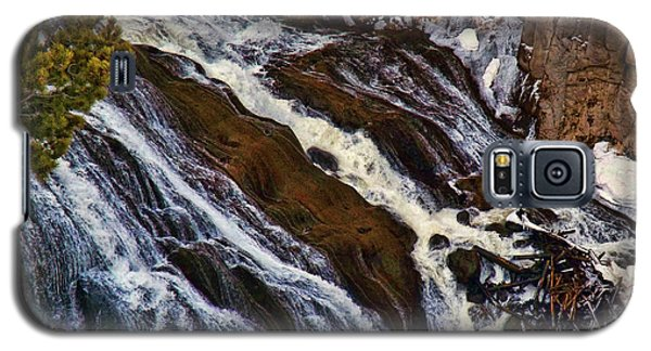 Waterfall In Yellowstone Galaxy S5 Case