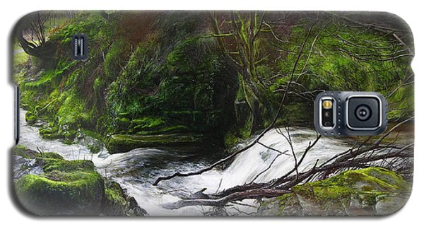 Waterfall Near Tallybont-on-usk Wales Galaxy S5 Case by Harry Robertson