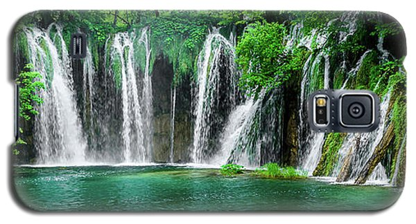 Waterfalls Panorama - Plitvice Lakes National Park Croatia Galaxy S5 Case