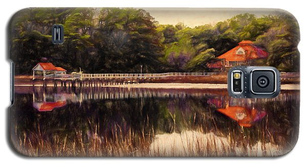 Galaxy S5 Case featuring the painting Waterfront Paradise by Dan Carmichael