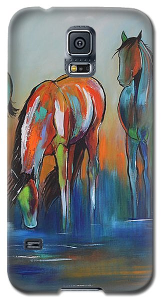 Galaxy S5 Case featuring the painting Watering Hole 5 by Cher Devereaux
