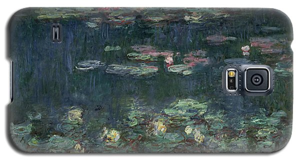 Waterlilies Green Reflections Galaxy S5 Case by Claude Monet