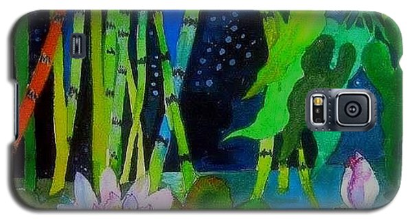 Waterlillies At Midnight Galaxy S5 Case