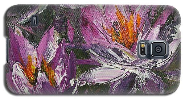 Galaxy S5 Case featuring the painting Waterlilly by Chris Hobel
