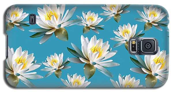 Galaxy S5 Case featuring the mixed media Waterlily Pattern by Christina Rollo