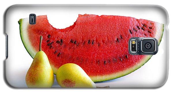 Watermelon Galaxy S5 Case - Watermelon And Pears by Carlos Caetano