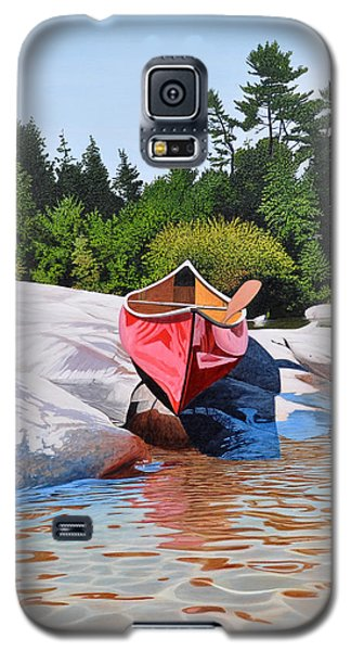 Galaxy S5 Case featuring the painting Waters Edge by Kenneth M Kirsch