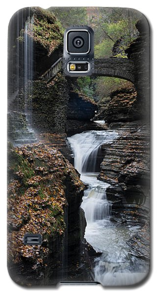 Galaxy S5 Case featuring the photograph Watkins Glen Rainbow Falls by Joshua House