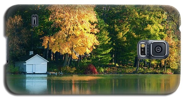 Waupaca Chain Boathouse Galaxy S5 Case by Trey Foerster