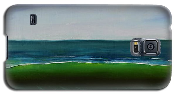 Galaxy S5 Case featuring the painting Wave by Mary Scott
