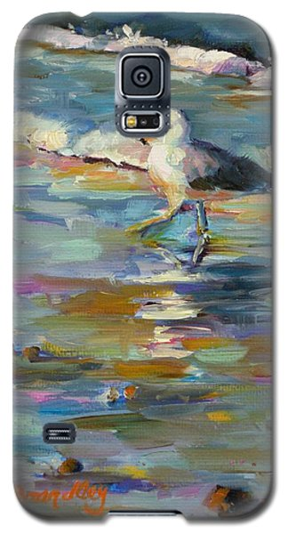 Galaxy S5 Case featuring the painting Wave Runner by Chris Brandley