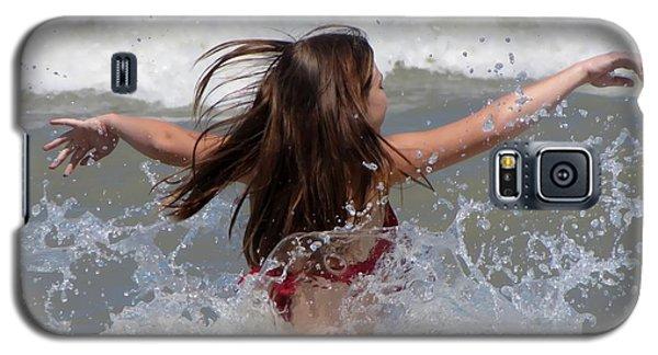Galaxy S5 Case featuring the photograph Wave Splash by Maciek Froncisz