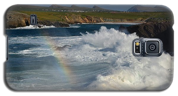 Waves And Rainbow At Clogher Galaxy S5 Case