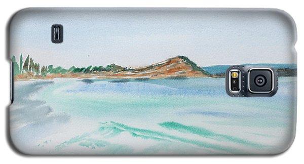 Waves Arriving Ashore In A Tasmanian East Coast Bay Galaxy S5 Case