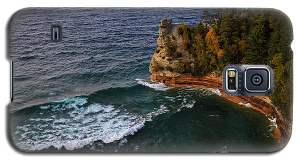 Waves At Miners Castle Galaxy S5 Case