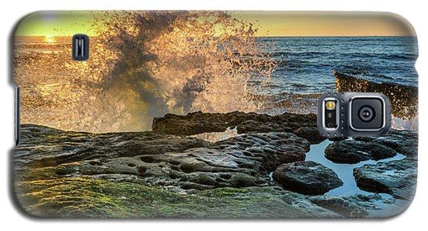 Waves At Sunset Cliffs Galaxy S5 Case